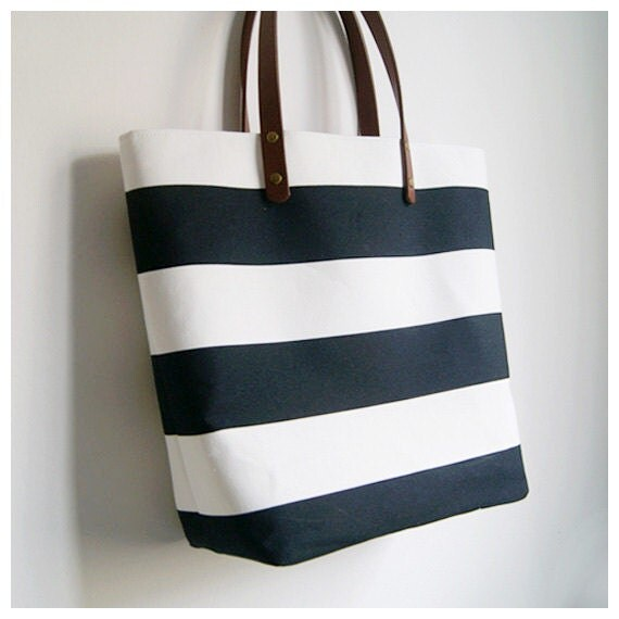 Black And White Striped Handbags Black And White Bold Striped