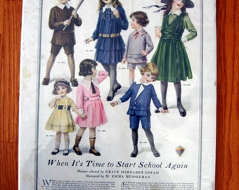 SALE 1915 Fall and Winter Back to School Fashions Advertisment