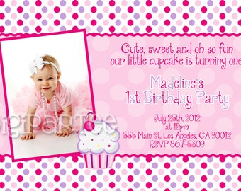 Lil Cupcake Invitation