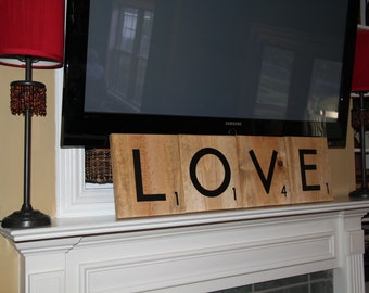 Oversized Scrabble Tiles - LOVE - choose your letters