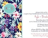 Printable Luau Couples Shower Invitation