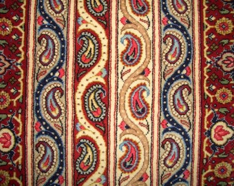 1980s Hand-Knotted Qum Persian Rug (1016)