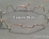 Custom Word or Name - Silver Sound Wave Bracelet