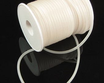 Rubber cord 3mm, solid,  white luminous, 10 feet