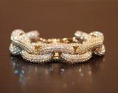J. Crew Inspired Gold Pave Link Bracelet