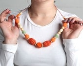 Baby shower gift for mom Orange nursing necklace Gift for new mom Teething Necklace