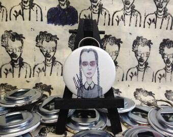 Addams Family Wednesday Addams original art Bottle Opener
