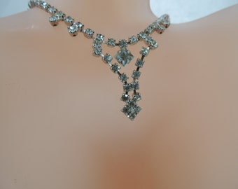 Vintage Jewelry Rhinestone Necklace