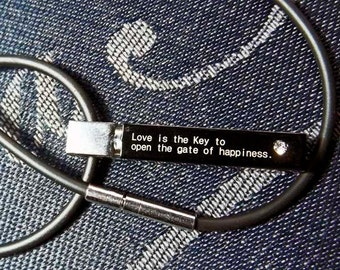 Stainless Steel Love is the Key Pendant