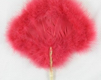 Antique Pink Feather Fan