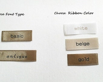 Personalized satin label custom name fabric label clutch purse label