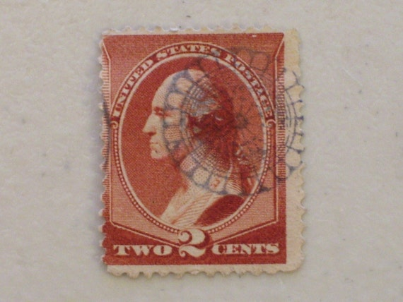 1883 19th Century Us Postage 2 Cents Stamp Scott 210 George