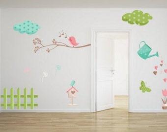 Wall Sticker My Garden (haven,tuin,garten,jardin,puutarha,hage,trädgård)(2554f)