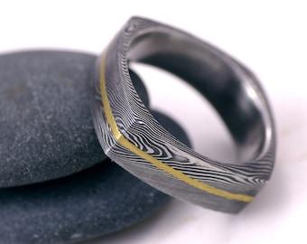 Square Wedding Ring Mens Womens