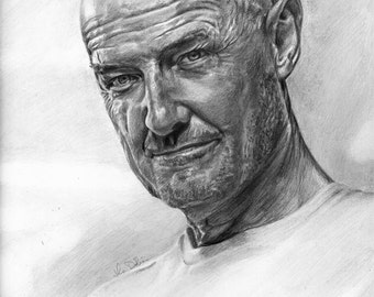 Drawing Print of Terry O'Quinn as John Locke from LOST