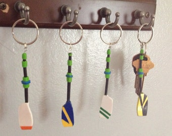 Custom Team Full Rowing Oar Keychain