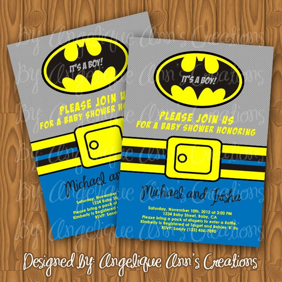 batman baby shower invitations batman baby shower invitations