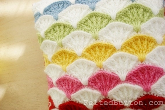 Pillow and Afghan Crochet Pattern Paintbrush by FeltedButton