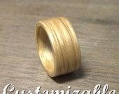 Bent wood wooden ring in Oak