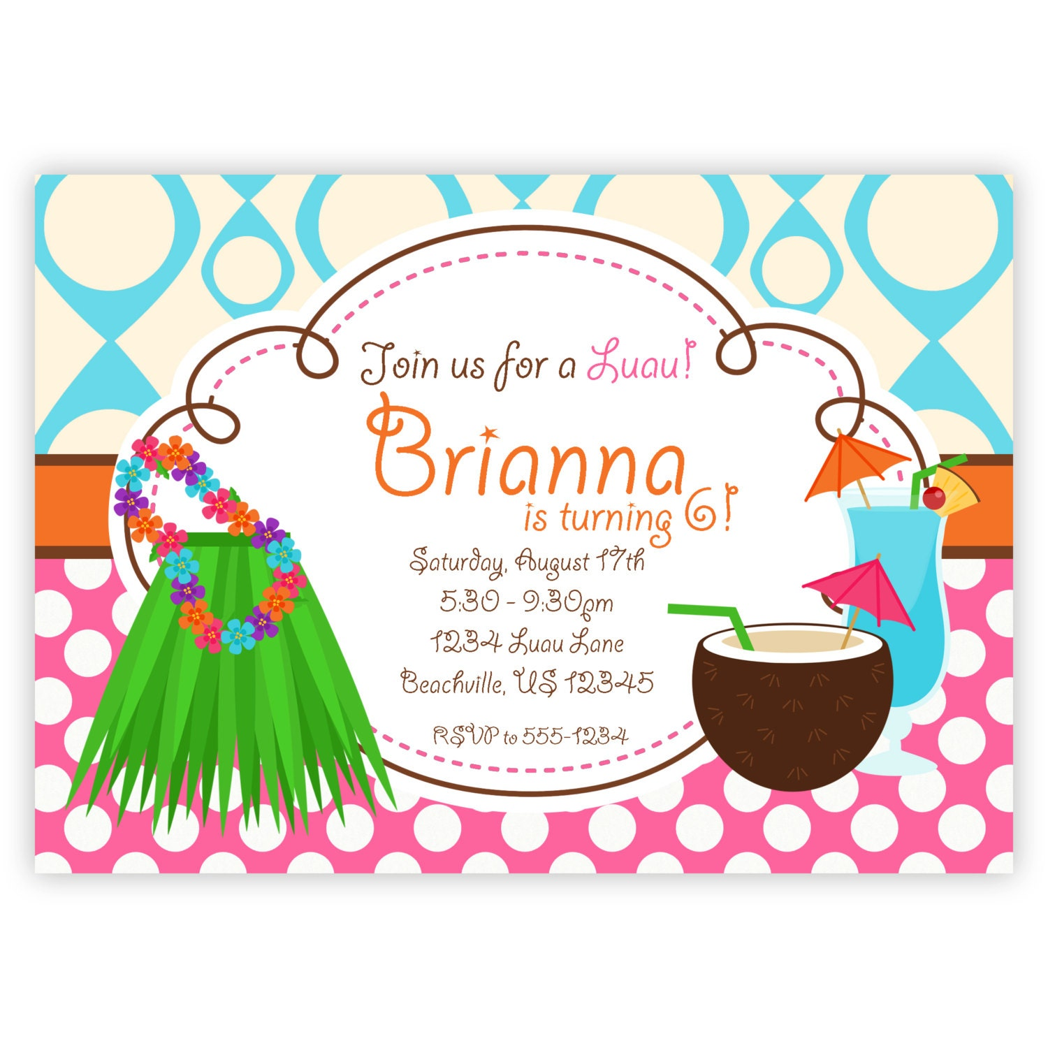 luau birthday invite  etsy, Birthday invitations