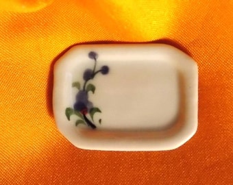 Dollhouse Platter - Doll House Floral Sushi - Veggie Platter  - Doll House China Platter No 4