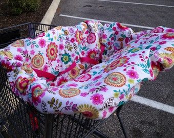 Custom design your own Twin/Double Child Cotton Shopping Cart Cover - choose from over 100 fabrics