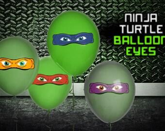 Ninja Turtle Balloon Eyes (Digital File)