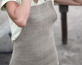 Linen Apron Rustic: In the Buff