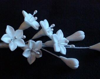 White Gumpaste Stephanotis Flower Spray for cake decoration  Medium set of 3
