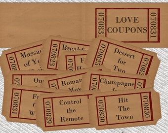 Love coupons etsy for Coupons for my boyfriend