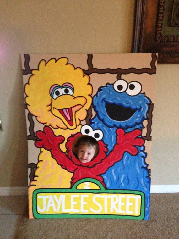 Lets Be Elmo Sesame Street 3 Character Photo Party Cut Out
