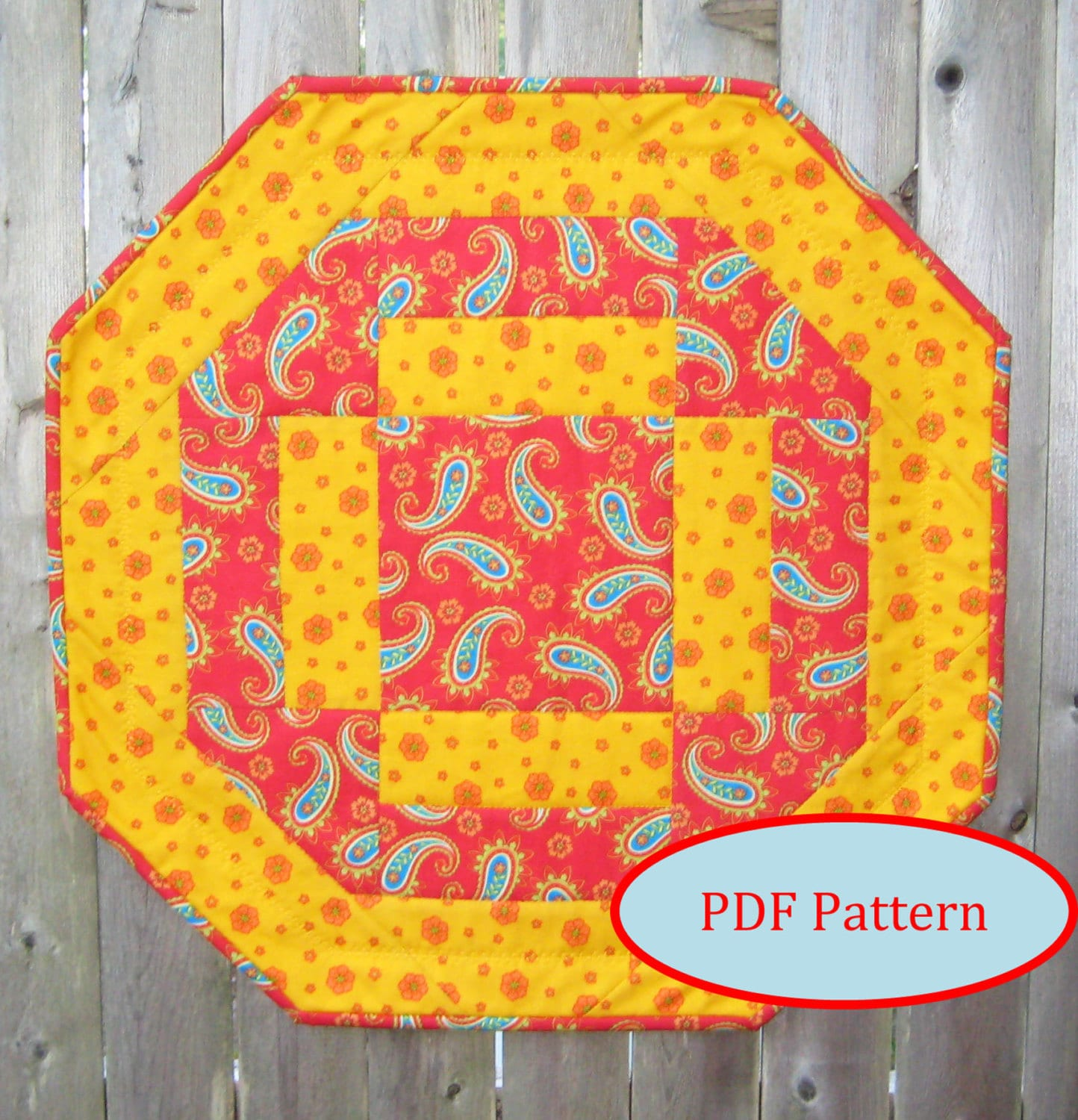 Quick And Easy Octagon Table Topper Pdf Quilting Pattern