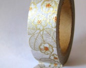 "Washi Tape ""Golden Blossom""...Washi Tape for Scrapbooking, Card Making, Paper Crafts"