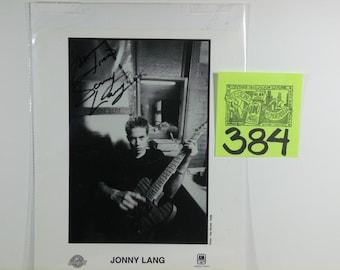 Blues Guitarist Jonny Lang Signed Publicity photo