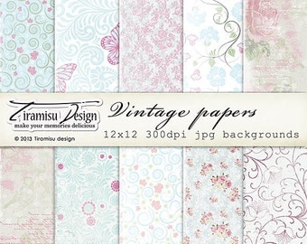 Scrapbook Papers and Digital Paper Pack 24