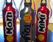 Personalized Team Sports Softball Water Bottle
