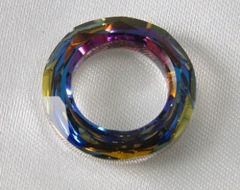 14mm Cosmic Round Donut Ring Swarovski Ring Volcano
