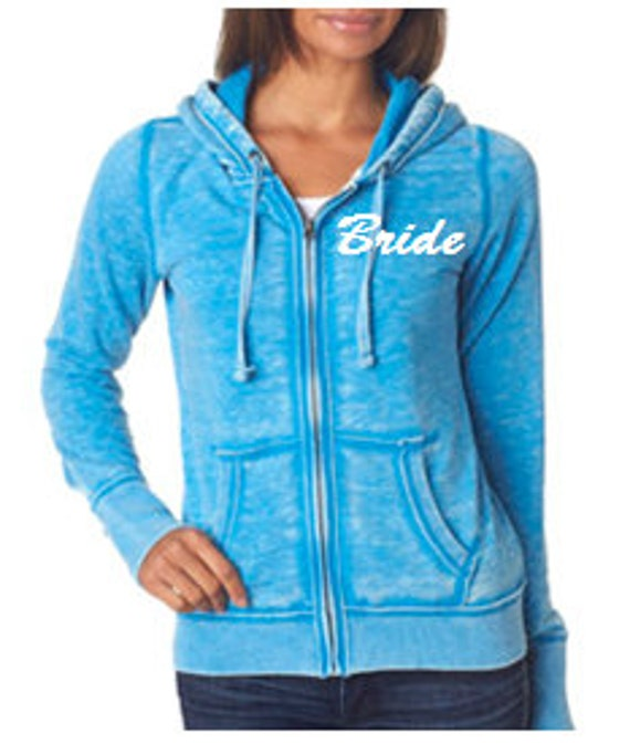 Ladies Vintage Zen Full-Zip Hooded Fleece. Great for brides, bridesmaids, gifts.