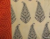 Block Print Soft Cotton Border Fabric by Yard