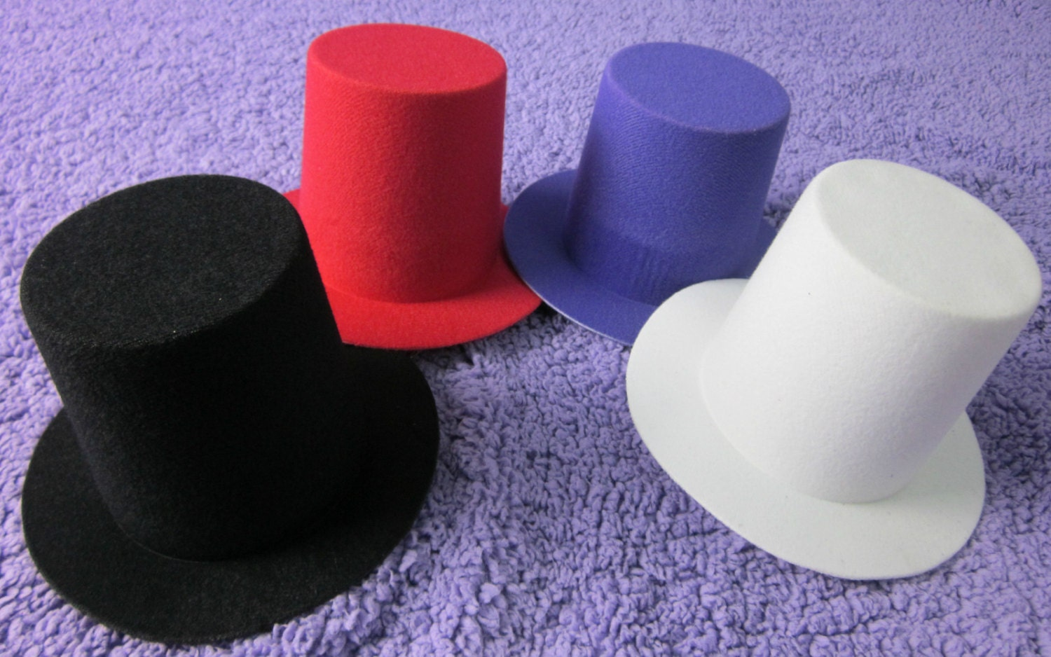 10pcs mini top tall hat millinery fascinator base diy craft