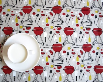 Linen tablecloth natural grey BBQ picnic grill season Eco Friendly , table runner , tea towel , pillow cover , curtains available , eco GIFT