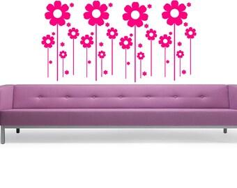 Flowers - Wall Decal - Wall art Sticker