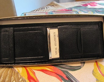 vintage black leather Haco Bench Made wallet. gift for men. deadstock. orginal gift box. Fathers day gift