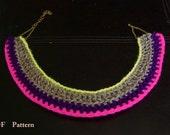 Crochet Pattern Neon Collar PDF - English and Spanish Pattern