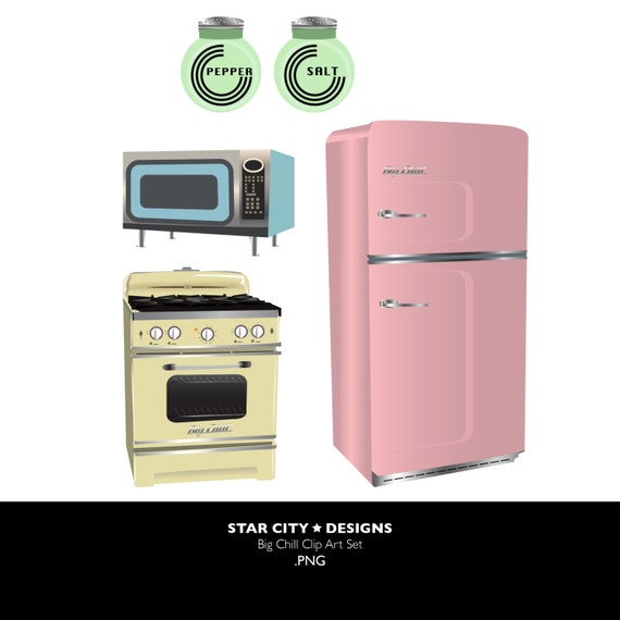 Kitchen Appliances Clip Art ~ Kitchen clipart vintage cooking by