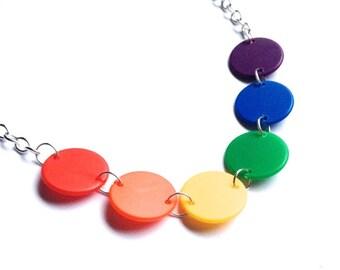 LGBT necklace, Rainbow Flag colours, Lesbian, Gay, Bisexual, Transgender, Pride flag, LGBT flag, rainbow colours