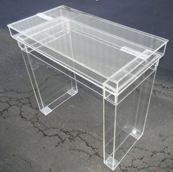 Items similar to lucite desk cosmetic table fully for Perspex desk
