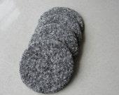 Granite Look Wool Felted Coasters~Wool Felt Coasters~Granite Like Coasters~Wool Coasters