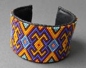 Colorful  beaded peyote  bracelet