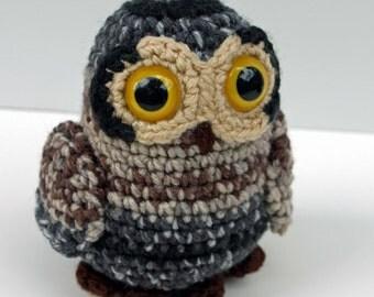 Dusty the Tiny Owl Amigurumi Crochet Plush